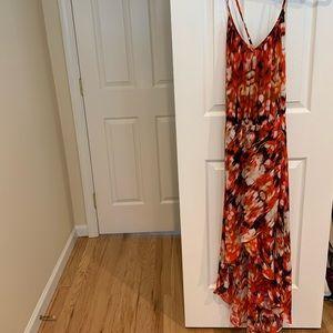GUESS CHIFFON COLORFUL HIGH-LOW DRESS